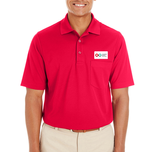 Mens Polo with Pocket - RED