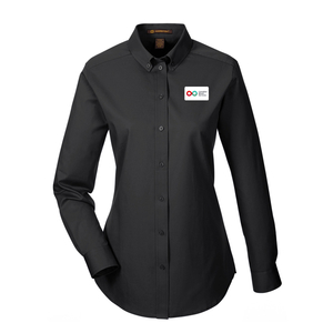 Ladies Long Sleeve Shirt - BLACK