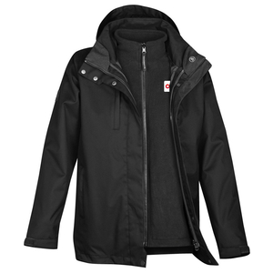 Ladies 3-in-1 Jacket - BLACK