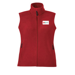 Ladies Fleece Vest - RED