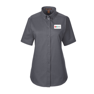 Ladies Short Sleeve Shirt - DARK CHARCOAL