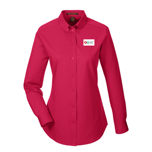 Ladies Long Sleeve Shirt - RED