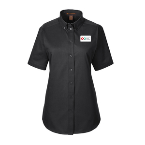 Ladies Short Sleeve Shirt - BLACK