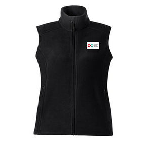 Ladies Fleece Vest - BLACK