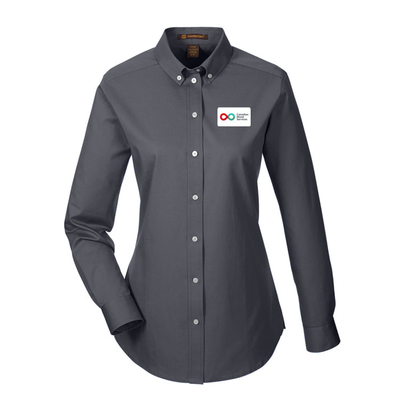 Ladies Long Sleeve Shirt - DARK CHARCOAL